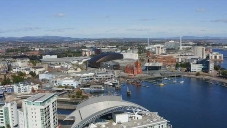 Drone-Shot-Pulling-Away-From-Cardiff-Bay-03