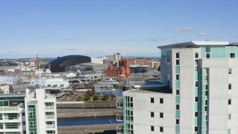 Drone-Shot-Orbiting-Cardiff-Bay-10