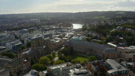 Drone-Shot-Orbiting-Around-Bristol-City-Council-Building-In-Bristol-Long-Version