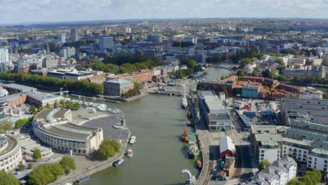 Drone-Shot-Orbiting-Canons-Marsh-and-Wapping-Wharf-In-Bristol-Short-Version-1-of-2