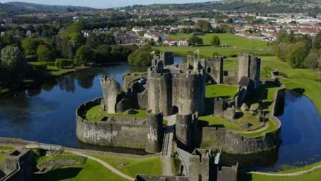 Drone-Shot-Orbiting-Around-Caerphilly-Castle-Short-Version-2-of-2