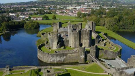 Drone-Shot-Orbiting-Around-Caerphilly-Castle-Long-Version