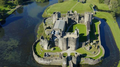 Drone-Shot-Pulling-Away-from-Caerphilly-Castle-Short-Version-1-of-2