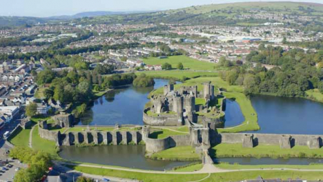 Drone-Shot-Pulling-Away-from-Caerphilly-Castle-Short-Version-2-of-2