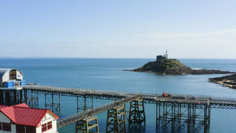 Drone-Shot-Approaching-Mumbles-Pier-In-Swansea-Long-Version