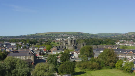 Drone-Shot-Pulling-Away-from-Caerphilly-Castle-02
