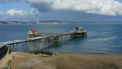 Drone-Shot-Approaching-Mumbles-Pier-In-Swansea-02