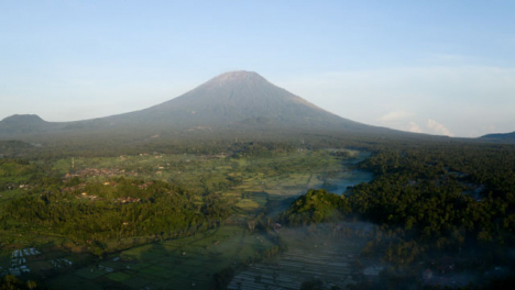 Drone-Shot-Ascending-and-Looking-Towards-Mount-Agung-Volcano