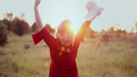 Happy-Woman-On-The-Sunset-In-Nature-In-Summer-With-Open-Hands-6