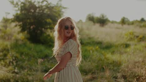 Happy-Attractive-Joyful-Woman-Hippie-Dancing-And-Walking-In-The-Sun-1