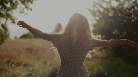 Happy-Attractive-Joyful-Woman-Hippie-Dancing-And-Walking-In-The-Sun-7