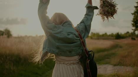 Happy-Attractive-Joyful-Woman-Hippie-Dancing-And-Walking-In-The-Sun-8
