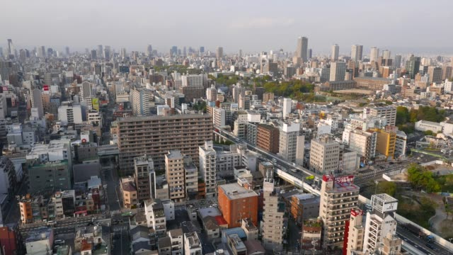 Busy-road-traffic-from-top-in-Osaka-Japan