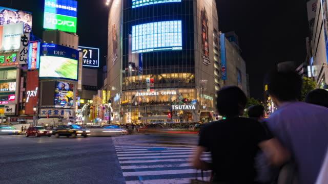 Tokyo-Shibuya-crossing-night-People-crossing-the-road-Time-lapse-