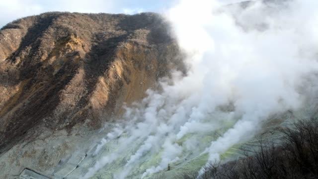 Active-sulfur-vents-and-hot-springs-of-Owakudani-at-Hakone-Fuji-volcanic-zone-Japan-