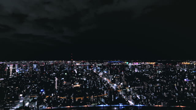 4K-aerial-time-lapse-of-Tokyo-by-night