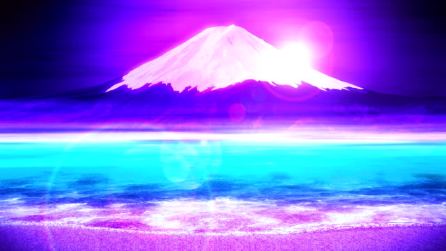 Mt-Fuji-from-Lake-Traditional-Japanese-New-Year-Loop-Animation-
