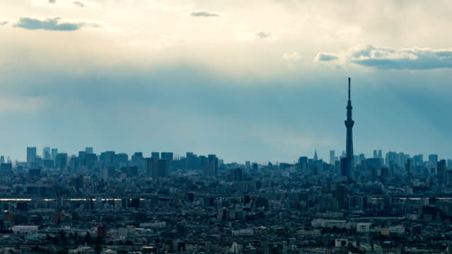 4K-Time-Lapse-:-Arial-view-of-Tokyo-Tower-and-Tokyo-cityscape-skyline