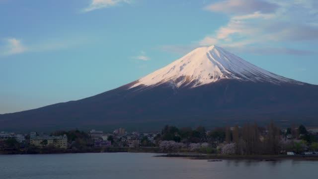 Mount-Fuji-and-Cherry-blossom-at-Kawaguchiko-lake