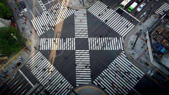 People-Crowd-Shopping-Street-Aerial-View-Pedestrians-Crossing-Shibuya-Crosswalk-Car-Traffic-Tokyo-City-Tokio-Japan-Japanese-Anonymous-Sidewalk-Busy-Asian-Famous-Tourist-Attraction-Rush-Hour