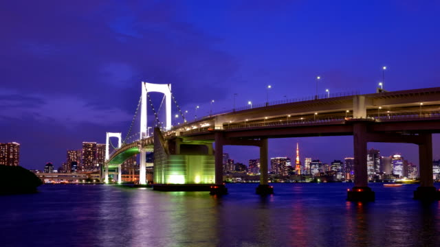 Night-view-of-Tokyo-Bay-time-lapse-