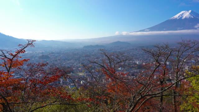 Beautiful-Mountain-fuji-with-maple-in-autumn-season-Japan