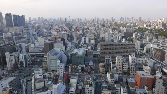 Osaka-city-aerial-panorama-Shinsekai-aeria-top-view-