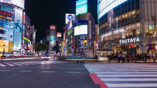 Shibuya-Crossing-at-night-Famous-Tourist-Attraction-4K-HDR-Timelapse