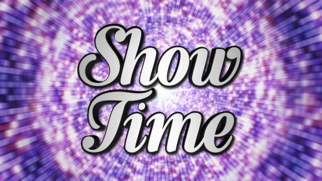 SHOW-TIME-Animation-Text-and-Disco-Dance-Background-Zoom-IN/OUT-Rotation-with-Alpha-Channel-Loop-4k