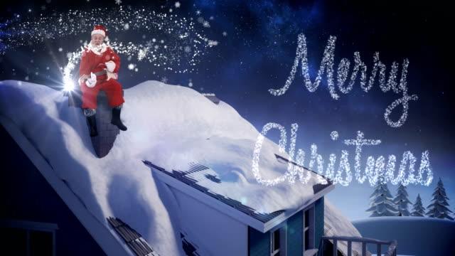 Santa-claus-sitting-on-a-chimney