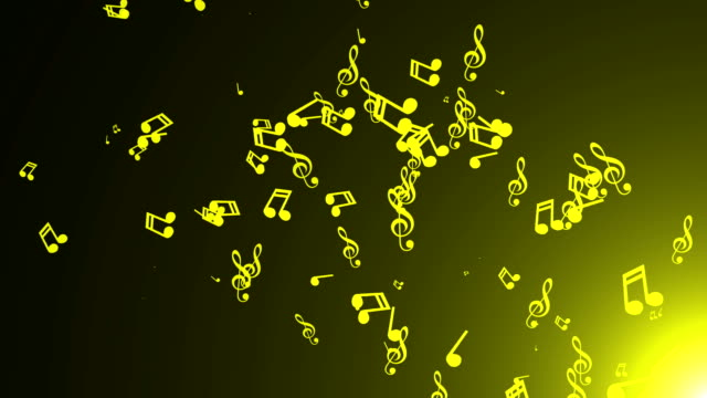 Musical-notes-float-Abstract-background