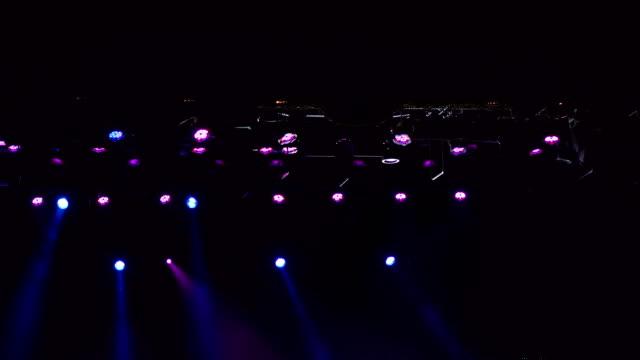 Spotlight-a-few-points-of-light-on-stage-4k