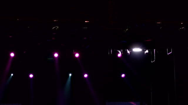Light-show-on-stage-Multi-colored-stage-lights-
