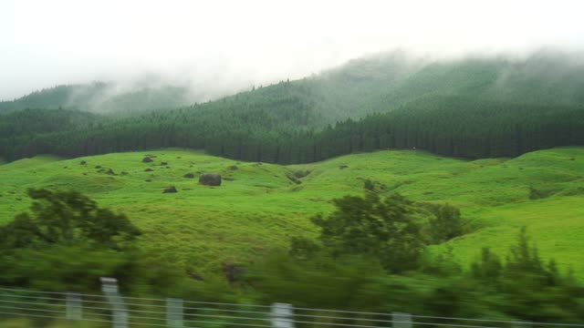 View-of-the-countryside-in-Japan-view-from-car