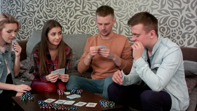 Boy-caught-his-opponent-cheating-while-playing-poker-becomes-angry-and-walks-away