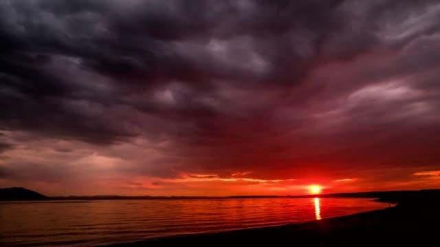Saroma-Lake-sunset