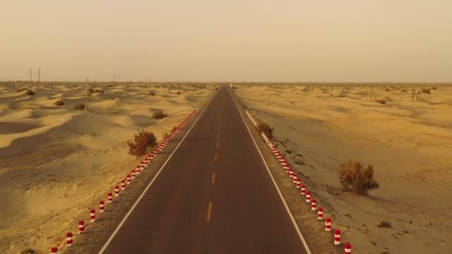 Desert-Highway-in-Xinjiang-China