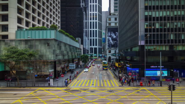 4k-time-lapse-of-busy-traffic-crossroad-hong-kong-china