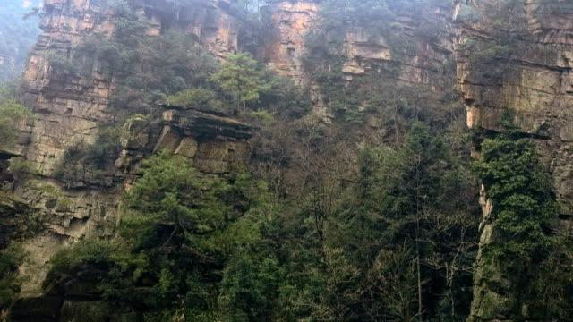 Vista-aérea-del-Parque-Nacional-de-Zhangjiajie-China