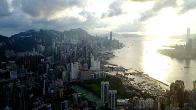 Fly-above-Hong-Kong-city-4k-video
