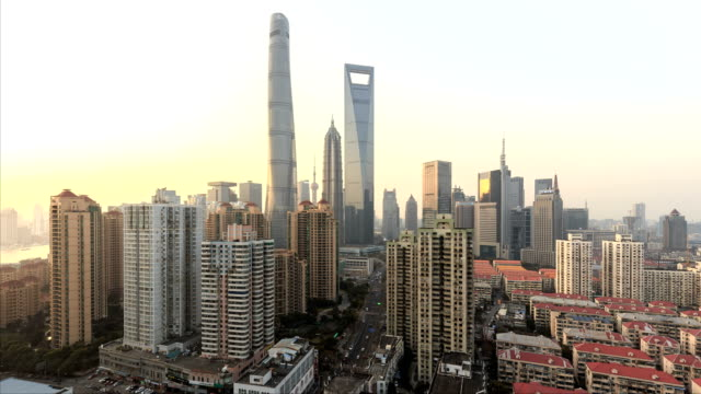 Day-to-night-time-lapse-of-Shanghai-skyline-and-cityscape