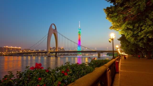 sunset-guangzhou-city-canton-tower-bridge-bay-flowers-4k-timelapse-china
