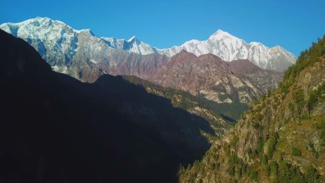 Amanecer-sobre-el-pico-en-la-Cordillera-del-Himalaya-Nepal
