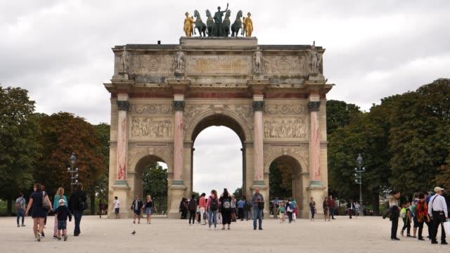 Paris,-France,-27th-August-2018,-Arc-de-Triomphe-du-Carrousel