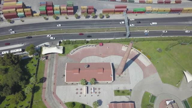 historic-air-gas-tank-city-view-drone-Tarihi-Hava-Gazı-Deposu