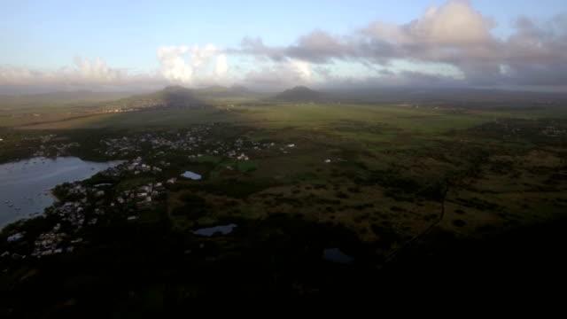 Aerial-view-of-coast-line-of-Mauritius-Island
