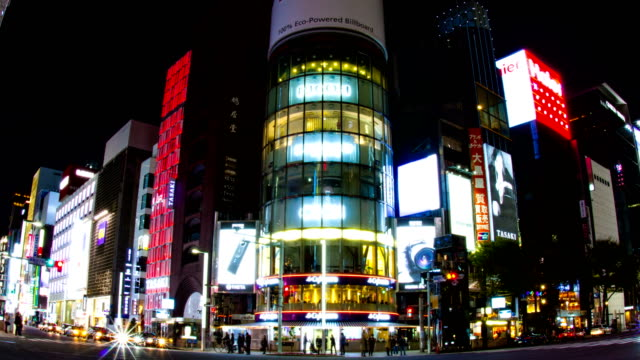 Harumi-st-at-Ginza-Night-lapse-4K-slow-shutter-zoom-out