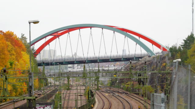 The-sky-bridge-of-the-city-with-the-construction-site
