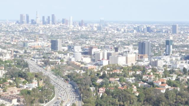 Hollywood-y-al-centro-de-la-ciudad-de-Los-Ángeles
