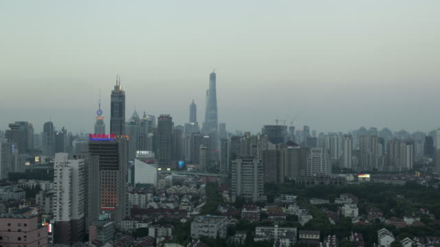 Shanghai-Cityview-4k-Timed-Shooting-Night-View